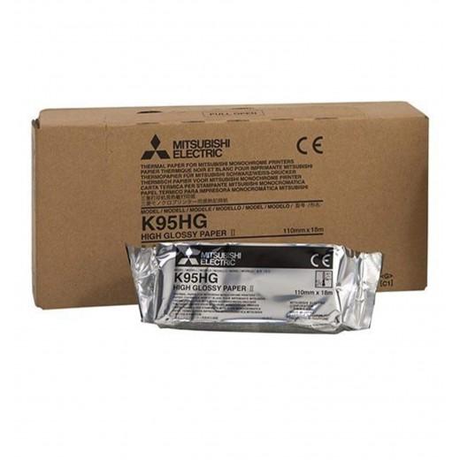 K95HG Papier haute brillance P95DW Papier Mitsubishi Impression médical thermique Usage unique CONSOMMABLE D'IMPRESSION