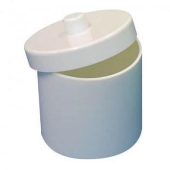 Pots à Coton Melamines Blanc avec Couvercle